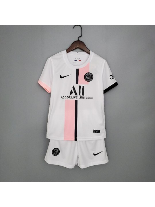 Camiseta Paris Saint-Germain Segunda Equipación 2021-2022 Niño