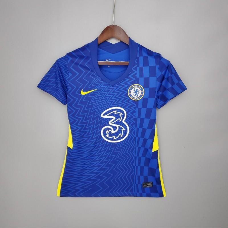 Camiseta Chelsea Fc Primera Equipación 2021-2022 Mujer