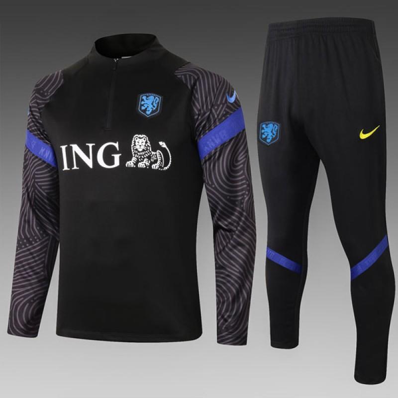 Sudadera Kit Holanda 2020/2021 Negro