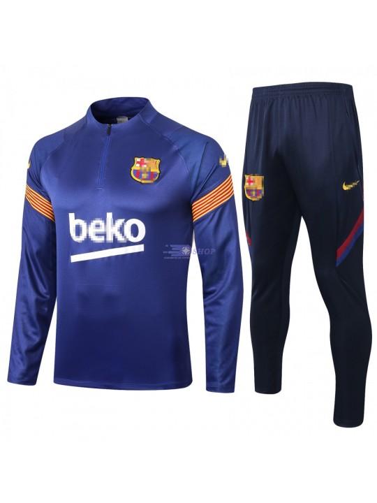 Sudadera Kit Barcelona 2020/2021 Azul Oscuro